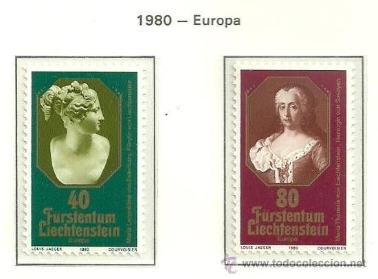 Sellos: LIECHTENSTEIN 1980 Europa 2v YVERT 682/3 - Foto 4 - 39136325
