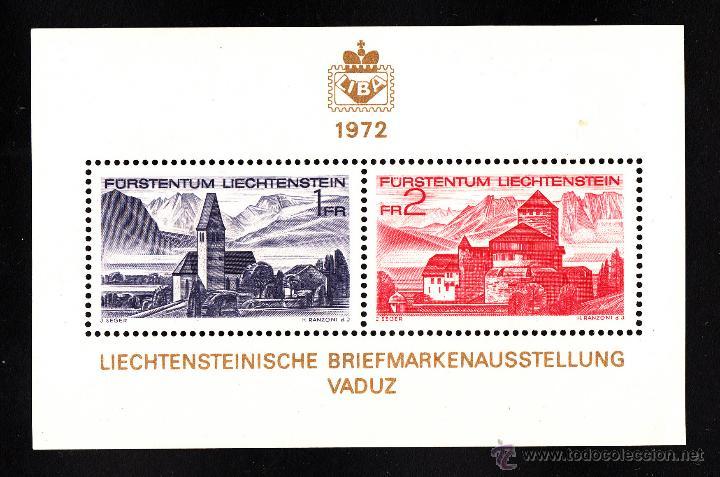 LIECHTENSTEIN HB 12** - AÑO 1972 - EXPOSICIÓN FILATÉLICA NACIONAL (Sellos - Extranjero - Europa - Liechtenstein)