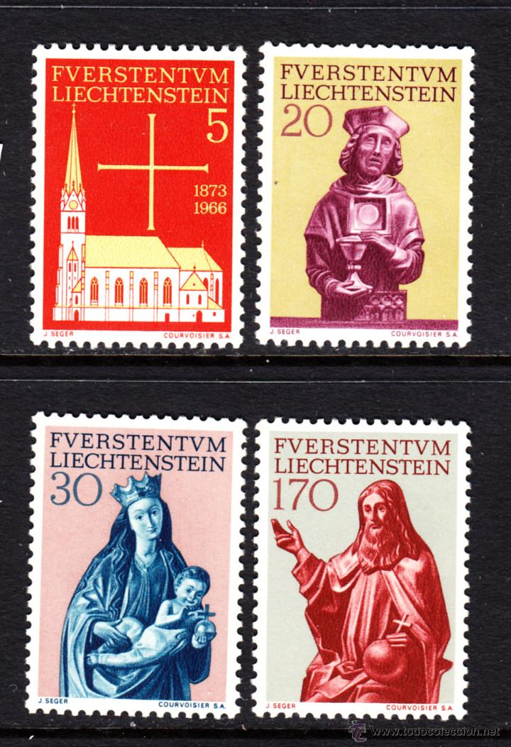 LIECHTENSTEIN 418/21** - AÑO 1966 - RESTAURACION DE LA IGLESIA PARROQUIAL DE VADUZ - ESCULTURAS (Sellos - Extranjero - Europa - Liechtenstein)