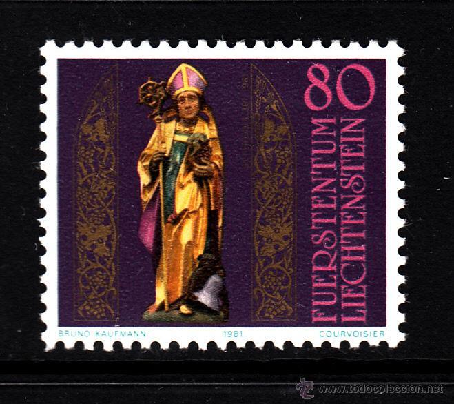 LIECHTENSTEIN 716** - AÑO 1981 - 1600º ANIVERSARIO DE SAN THEODULE (Sellos - Extranjero - Europa - Liechtenstein)