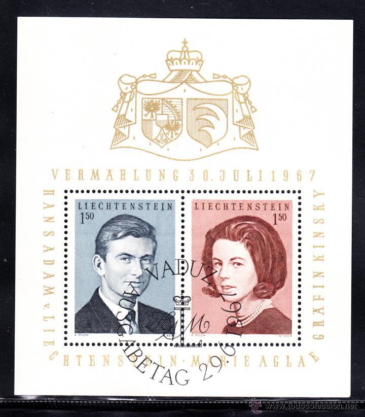LIECHTENSTEIN HB 10 - AÑO 1967 - BODA DEL PRÍNCIPE JEAN ADAN (Sellos - Extranjero - Europa - Liechtenstein)