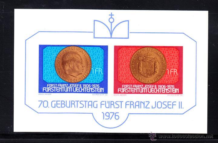 LIECHTENSTEIN HB 13** - AÑO 1976 - 70º ANIVERSARIO DEL PRINCIPE FRANCISCO JOSE II (Sellos - Extranjero - Europa - Liechtenstein)