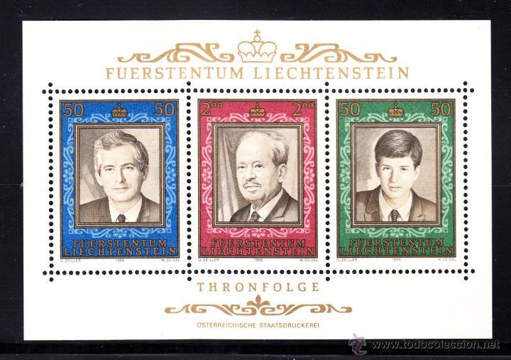 LIECHTENSTEIN HB 16** - AÑO 1988 - 50º ANIVERSARIO DEL REINADO DEL PRINCIPE FRANCOIS JOSEPH II (Sellos - Extranjero - Europa - Liechtenstein)