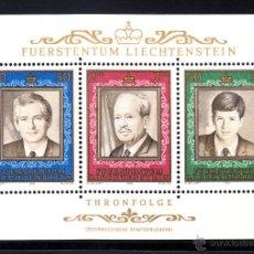 Sellos: LIECHTENSTEIN HB 16** - AÑO 1988 - 50º ANIVERSARIO DEL REINADO DEL PRINCIPE FRANCOIS JOSEPH II. Lote 116405850