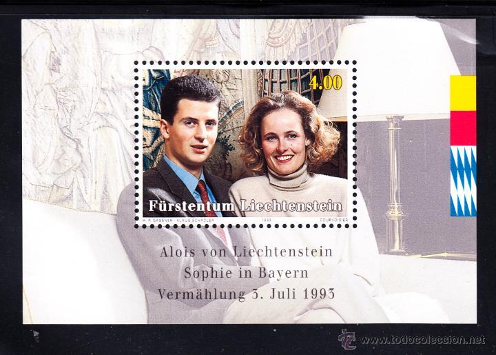 LIECHTENSTEIN HB 18** - AÑO 1992 - BODA DEL PRÍNCIPE HEREDERO ALOIS VON LIECHTENSTEIN (Sellos - Extranjero - Europa - Liechtenstein)