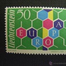 Sellos: LIECHTENSTEIN Nº YVERT 355. AÑO 1960. EUROPA. SELLO CON CHARNELA. Lote 49158532