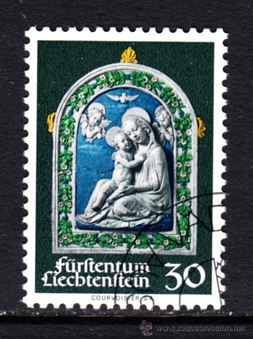LIECHTENSTEIN 498 - AÑO 1971 - NAVIDAD - ESCULTURA DE ANDREA DELLA ROBBIA (Sellos - Extranjero - Europa - Liechtenstein)