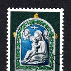 Sellos: LIECHTENSTEIN 498 - AÑO 1971 - NAVIDAD - ESCULTURA DE ANDREA DELLA ROBBIA. Lote 124636487