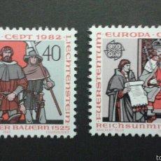 Sellos: SELLOS DE LIECHTENSTEIN. EUROPA CEPT. YVERT 732/3. SERIE COMPLETA NUEVA SIN CHARNELA.. Lote 53129672