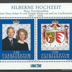Francobolli: LIECHTENSTEIN - 1992 - MICHEL 1039/1040 (BLOCK 14) // SCOTT 985** MNH. Lote 57669672