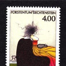 Sellos: LIECHTENSTEIN / FURSTENTUM AÑO 1995 YVERT Nº 1064 ** MNH - PINTURA - OBRA DE PAUL WUNDERLICH - HOME. Lote 152158929