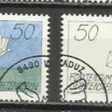 Sellos: 5037-SERIE COMPLETA LIECHTENSTEIN EL PLACER DE LA ESCRITURA,CORREO,BONITOS SELLOS,AÑO 1992 Nº 982/5,. Lote 64047719