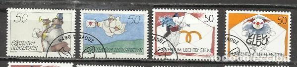 7442-SERIE COMPLETA LIECHTENSTEIN EL PLACER DE LA ESCRITURA,CORREO,BONITOS SELLOS,AÑO 1992 Nº 982/5, (Sellos - Extranjero - Europa - Liechtenstein)