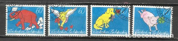 7443-SERIE COMPLETA LIECHTENSTEIN EL PLACER DE LA ESCRITURA,CORREO,BONITOS SELLOS,AÑO 1994 Nº 1026/9 (Sellos - Extranjero - Europa - Liechtenstein)