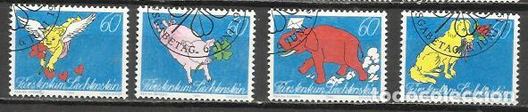 5038-SERIE COMPLETA LIECHTENSTEIN EL PLACER DE LA ESCRITURA,CORREO,BONITOS SELLOS,AÑO 1994 Nº 1026/9 (Sellos - Extranjero - Europa - Liechtenstein)
