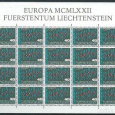 Sellos: LIECHTENSTEIN,EUROPA,1972,BLOQUE DE 20 SELLOS,MNH**. Lote 286654223