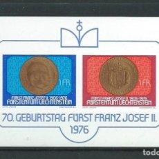 Sellos: LIECHTENSTEIN, 1976, 70 ANIVERSARIO DE FRANCISCO JOSÉ II, MNH**. Lote 286654903