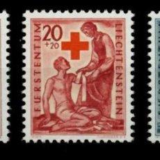 Sellos: LIECHTENSTEIN 1945 IVERT 219/21 *** EN FAVOR DE LA CRUZ ROJA. Lote 81000536