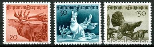 LIECHTENSTEIN 1946 IVERT 224/6 *** FAUNA (I) - ANIMALES DIVERSOS (Sellos - Extranjero - Europa - Liechtenstein)