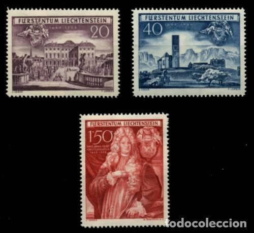 LIECHTENSTEIN 1949 IVERT 243/4 *** 250º ANIVERSARIO ADQUISICIÓN DE SCHELLENBERG - MONUMENTOS (Sellos - Extranjero - Europa - Liechtenstein)