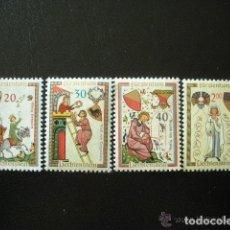 Sellos: LIECHTENSTEIN 1962 IVERT 373/6 *** TROBADORES (II). Lote 81486816