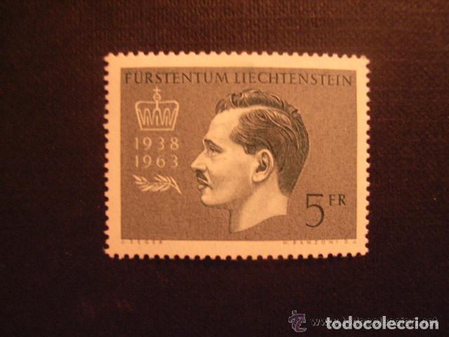LIECHTENSTEIN 1963 IVERT 377 *** 25º ANIVERSARIO REINADO DEL PRÍNCIPE FRANCISCO-JOSÉ II - CASA REAL (Sellos - Extranjero - Europa - Liechtenstein)