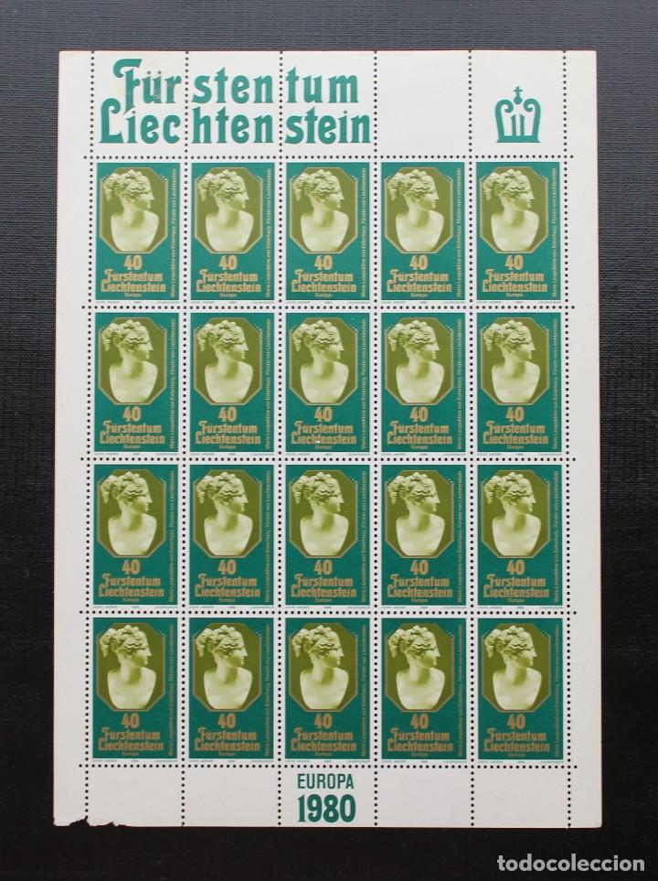 LIECHTENSTEIN 1980 HOJA EUROPA PRINCESA DE LIECHTENSTEIN YVERT 682 ** (Sellos - Extranjero - Europa - Liechtenstein)