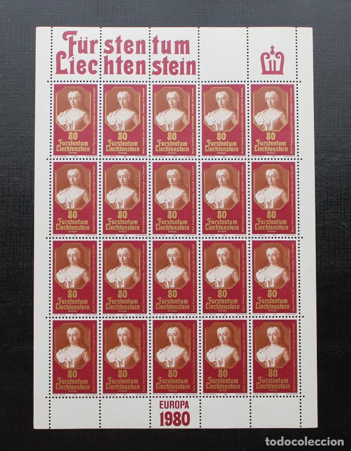LIECHTENSTEIN 1980, HOJA EUROPA PRINCESA DE LIECHTENSTEIN, YVERT 683 ** (Sellos - Extranjero - Europa - Liechtenstein)