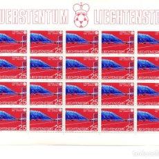 Sellos: MINIHOJAS - LIECHTENSTEIN - FOOTBALL - FUERSTENTUM - FUSSBALL - SPANIEN - 1982 -ESPAÑA - FÚTBOL - HB. Lote 90437349