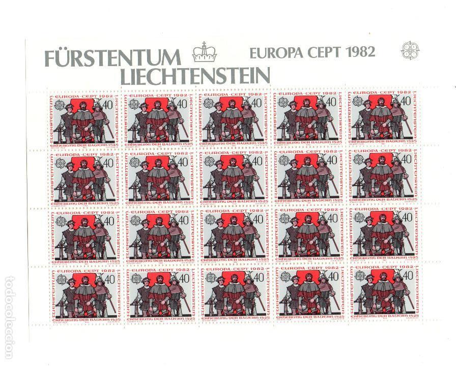 FÜRSTENTUM LIECHTENSTEIN - EUROPA CETP 1982 - SIN ESTRENAR - MINIHOJAS - SERIE 2HB- SELLOS - SELLO (Sellos - Extranjero - Europa - Liechtenstein)
