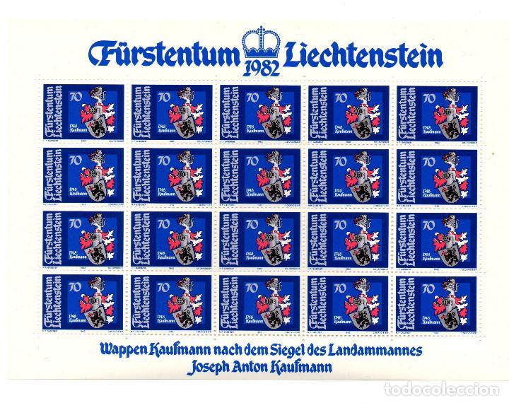 Sellos: Fürstentum Liechtenstein - Escudo de armas - Johann Kaiser - Minihojas - Serie 4 hb- sellos - 1982 - Foto 2 - 91050405