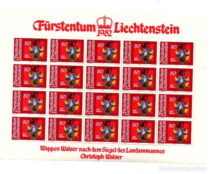 Sellos: Fürstentum Liechtenstein - Escudo de armas - Johann Kaiser - Minihojas - Serie 4 hb- sellos - 1982 - Foto 3 - 91050405
