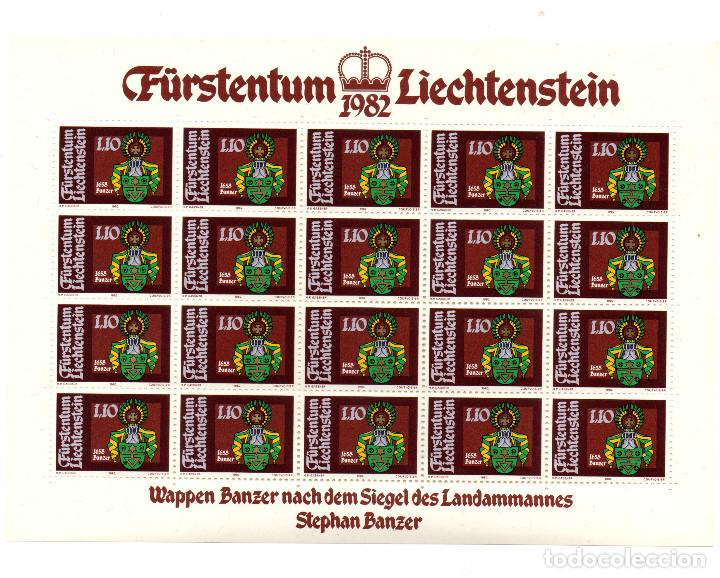 Sellos: Fürstentum Liechtenstein - Escudo de armas - Johann Kaiser - Minihojas - Serie 4 hb- sellos - 1982 - Foto 4 - 91050405