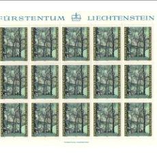 Sellos: FÜRSTENTUM LIECHTENSTEIN - ESTACIONES DEL AÑO - NATURALEZA - MINIHOJAS - SERIE 4 HB- SELLOS - 1980. Lote 91062590