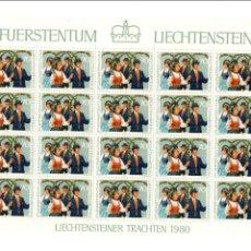 Sellos: FÜRSTENTUM LIECHTENSTEIN - FIESTAS POPULARES - MINIHOJAS - SERIE 3 HB- 20 SELLOS - 1980 - FOLKLORE. Lote 91089600