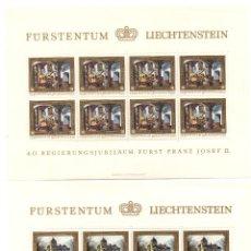 Sellos: FURSTENTUM LIECHTENSTEIN - PINTURAS FRANZ JOSEF II - SERIE 4 HB - 8 SELLOS -1978 - MINIHOJAS - . Lote 91144690