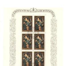 Sellos: LIECHTENSTEIN - PINTURAS RUBENS 400 ANIVERSARIO RUBENS - SERIE 3 HB - 8 SELLOS -1976 - MINIHOJAS -. Lote 91155815