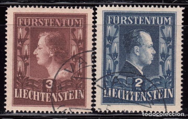 1951 YVERT Nº 266A / 267A ( DENTADO 15 ) (Sellos - Extranjero - Europa - Liechtenstein)