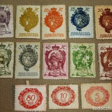 Sellos: LOTE DE 13 SELLOS DE LIECHTENSTEIN, USADOS, CON CHARNELA, 1920S. Lote 102454683