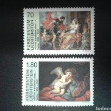 Sellos: LIECHTENSTEIN. YVERT 1168/9. SERIE COMPLETA NUEVA SIN CHARNELA. PINTURAS. RUBENS. REMBRANT.. Lote 110423082