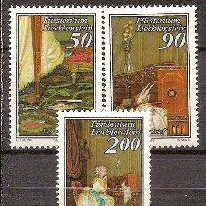 Sellos: LIECHTENSTEIN,SERIE COMPLETA,NUEVA**,YVERT 898/900.. Lote 110571451
