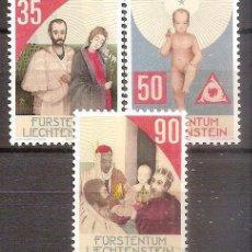 Sellos: LIECHTENSTEIN,SERIE COMPLETA,NUEVA**,YVERT 893/97. Lote 110571819