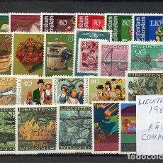 Sellos: LIECHTENSTEIN 1980, 23 VALORES, AÑO COMPLETO, MNH-SC. Lote 128532571