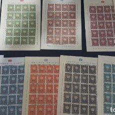 Sellos: LOTE 10 HOJAS DE 20 SELLOS CADA UNA DE 1950 DE LA CORONA LIECHTENSTEIN.. Lote 133600358