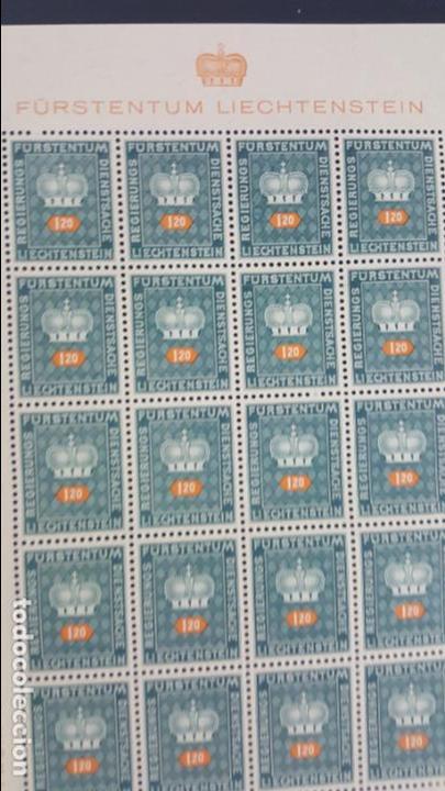 Sellos: Lote 10 hojas de 20 sellos cada una de 1950 de la corona Liechtenstein. - Foto 2 - 133600358