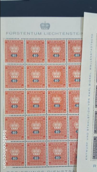 Sellos: Lote 10 hojas de 20 sellos cada una de 1950 de la corona Liechtenstein. - Foto 3 - 133600358