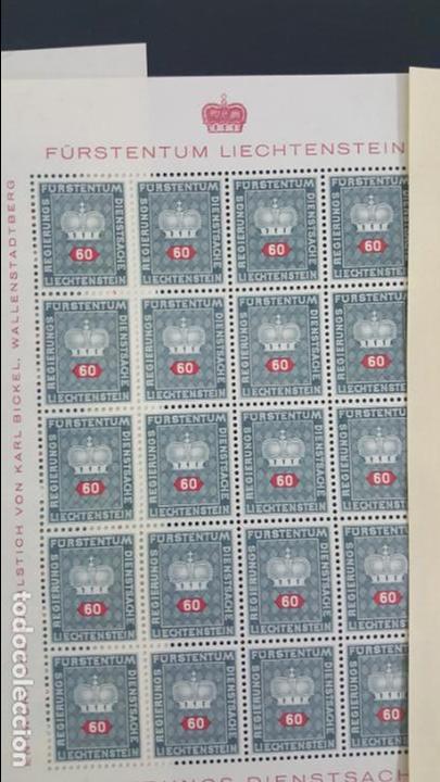 Sellos: Lote 10 hojas de 20 sellos cada una de 1950 de la corona Liechtenstein. - Foto 4 - 133600358