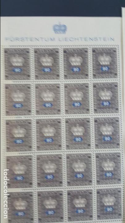 Sellos: Lote 10 hojas de 20 sellos cada una de 1950 de la corona Liechtenstein. - Foto 9 - 133600358