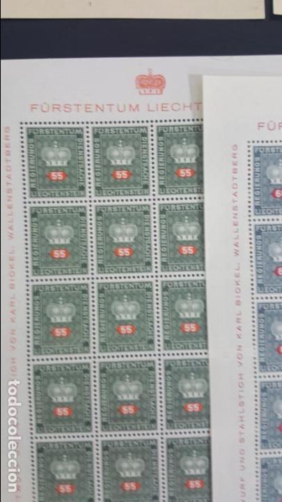 Sellos: Lote 10 hojas de 20 sellos cada una de 1950 de la corona Liechtenstein. - Foto 10 - 133600358