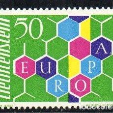 Sellos: LIECHTENSTEIN AÑO 1960 YV 355*** EUROPA - ALEGORÍA. Lote 135354494